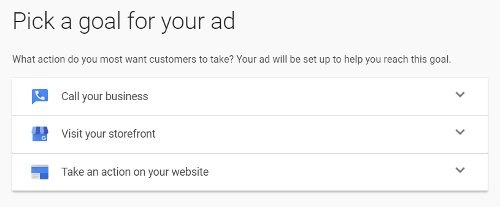 Google Ads Express Interface