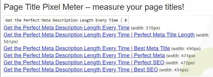 perfect meta title length in Web Shop Optimizer emulator